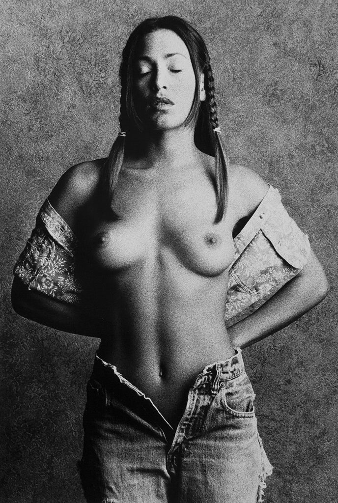 Tony_Ward_early_work_casting_calls_topless_model_jeans_pigtails_studio