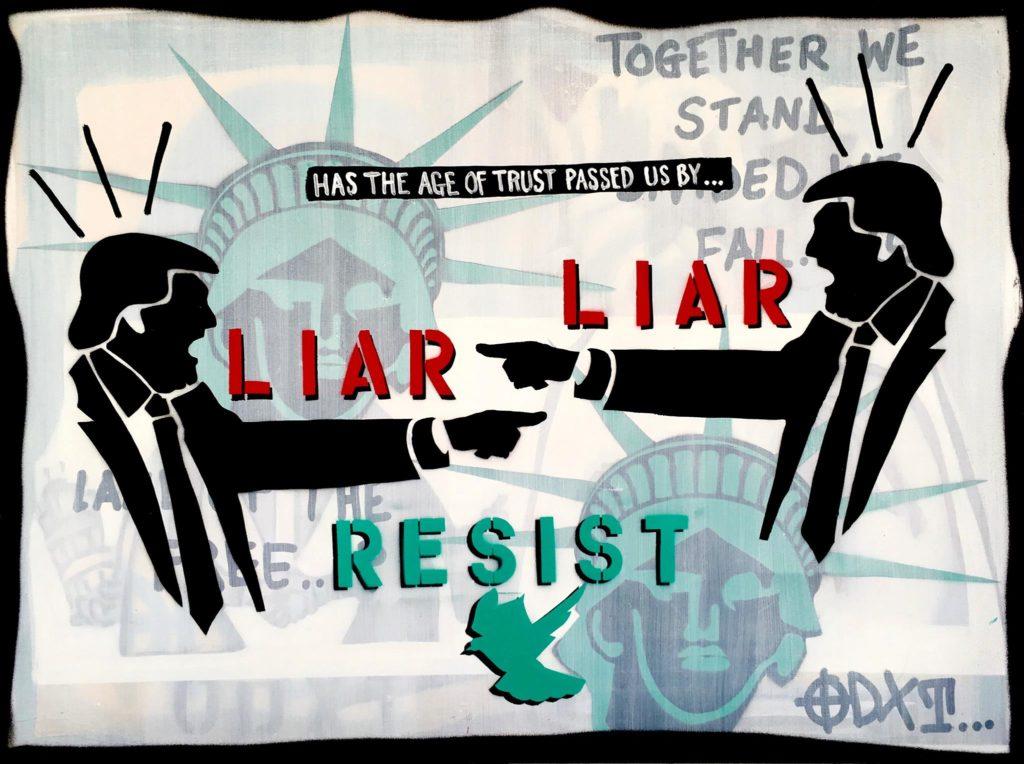 Dean_Rosensweig_aritst_american_pop_art_political_anti_Trump_propaganda_trustworthiness_liar__resist_SWAG-ART_liar
